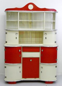 ... Red Retro Kitchen Appliances , Red Kitchen Cabinets , Black And White