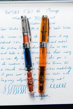 The TWSBI 580 AL Orange, With A Twist — The Pen Addict