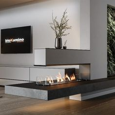 Home Fireplace, Fireplace Design, Living Room With Fireplace, Living Room Modern, House Extension Design, Modern Bathroom Design Grey, House Interior, Modern Fireplace Decor, Apartment Interior
