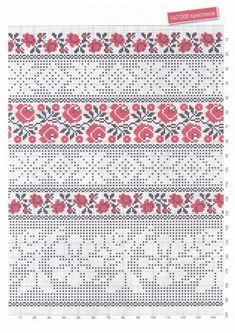 Towel Embroidery, Embroidery Patterns, Cross Stitch Borders, Cross Stitching, Swedish Weaving, American Quilt, Drawn Thread, Crochet Designs, Needlework