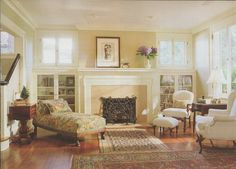 Signature Craftsman Fireplace U0026 Surrounding Built Ins. Love This Room As  Well As The French Doors In Another Photo!