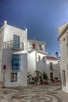 White village in Frigiliania, Andalucia