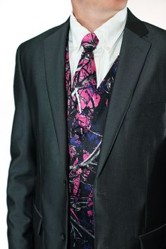 Muddy Girl Vest and Tie Wedding Vest, Tuxedo Wedding, Wedding Attire, Cool Wedding Cakes, Wedding Stuff, Dream Wedding, Wedding Ideas, Camouflage Wedding, Pink Camouflage