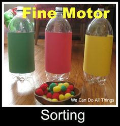 we can do all things fine motor sorting; site also has some gross motor ideas, as well as counting activities Activities For 2 Year Olds, Motor Skills Activities, Toddler Learning Activities, Sorting Activities, Infant Activities, Classroom Activities, Kids Learning, Sensory Activities, Colour Activities For Toddlers