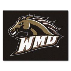 Western Michigan Broncos Black Tufted Area Rug