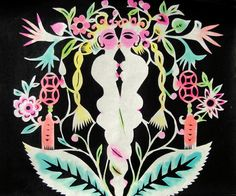 "Xiyadie ""Twining"" (nd)    from ""Gay Life Portrayed in Traditional Chinese Paper-cuts"""