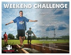 January 9, 2015 - Try out this week's #RuggedManiac Weekend Challenge! #GetRugged #Fitness #RuggedTraining