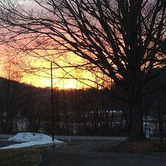 Winter sunset in Ligonier, PA (photo by Jennifer Sopko)