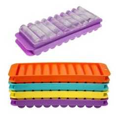 Water Bottle Ice Cube Tray. This is genius!! No more standing at the freezer putting one icecube in at a time!!
