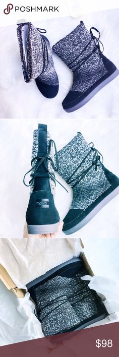 TOMS Nepal Boots TOMS Nepal Boots are designed in suede with a faux shearling lining and mixed textile upper. Insanely warm and comfortable, perfect for cooler weather. These are new in box, including iconic TOMS sticker.  ✅Bundle & Save 🚫Trades 🚫Off-Posh 🚫Modeling  💞Shop with ease; I'm a Posh Ambassador.💞 Toms Shoes Ankle Boots & Booties