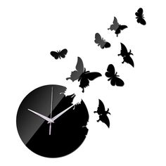 Cheap diy clock, Buy Quality clock kids directly from China modern home decor Suppliers: special offer 2017 sale mirror wall art acrylic quartz clock kids novelty watch modern home decor diy clocks Mirror Wall Clock, Clock Art, Diy Clock, Diy Mirror, Wall Clocks, Creative Wall Painting, Wall Watch, Clock Shop, Butterfly Wall