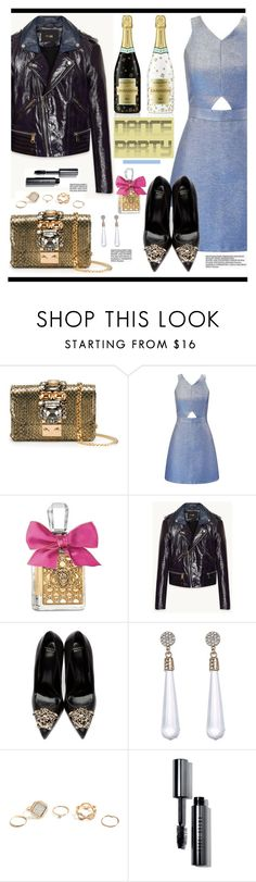 """""""Dance Party!"""" by hamaly ❤ liked on Polyvore featuring GEDEBE, Miss Selfridge, Juicy Couture, Versace, Rebecca Minkoff, GUESS, Bobbi Brown Cosmetics and danceparty"""