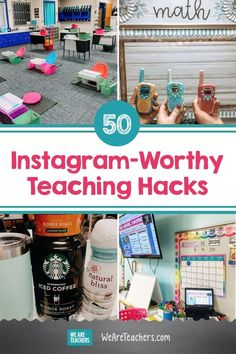 50 Instagram-Worthy Teaching Hacks. These Instagram-worthy teacher hacks will keep your classroom organized, your sanity intact, and your social media channels popping. #teaching #teacherlife #teachinghacks #classroom #classroomsupplies #classroomsetup Classroom Procedures, Classroom Supplies, Classroom Setup, Future Classroom, Classroom Organization, Household Organization, Classroom Door, Fountas And Pinnell Levels, Teacher Hacks