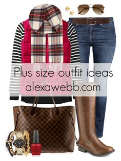 """""""Plus Size Outfit Ideas - Plussize Outfits"""" by alexawebb ❤ liked on Polyvore featuring H&M, JunaRose, Torrid, Lands' End, Louis Vuitton, Stella & Dot, House of Harlow 1960, Marc by Marc Jacobs, OPI and Trina Turk LA"""