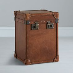 """""""Landon Paris Trunk, Leather at johnlewis.com' - No words. I just need this."""