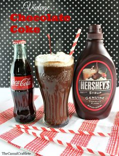 Vintage Chocolate Coke www.thecasualcraftlete.com. This recipe has been around for ever, even served at the old soda fountains!!