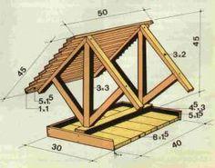 Voederhuisje van hout maken Wood Bird Feeder, Bird Feeder Plans, Bird House Feeder, Bird Feeders, Wooden Bird Houses, Bird Houses Diy, Bird Feeding Table, Squirrel Home, Bird Tables