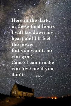 I Can't Make You Love Me - Adele*