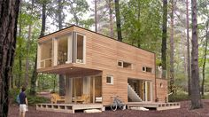 This little cabin is practically a playhouse for adults. | 23 Surprisingly Gorgeous Homes Made From Shipping Containers
