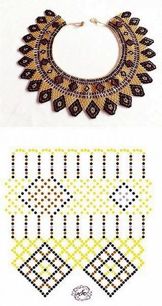 Necklace Choker Huichol – Romea Accessories – Mexican Style – Jewelry - Beaded choker necklaces by RomeaAccessories on Etsy etsy choker necklace beads style chic trendy chokerdiamondnecklace - Her Crochet Diy Necklace Patterns, Beaded Jewelry Patterns, Beading Patterns Free, Beading Tutorials, Beaded Cross, Seed Bead Jewelry, Handmade Beads, Loom Beading, Bead Art