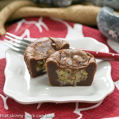 German Chocolate Brownie Cupcakes | All the best of a German Chocolate Cake in a brownie!