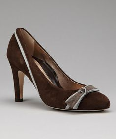 Take a look at this Brown & Sky Suede Rory Pump by Dana Davis on #zulily today!