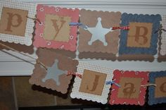 Cowboy Birthday Banner with Name by AnyGoodIdeas on Etsy, $18.00