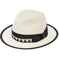 Borsalino Men Quito Medium Brim Straw Panama Hat (985 BRL) ❤ liked on Polyvore featuring men's fashion, men's accessories, men's hats, white, mens straw hats, borsalino mens hats, mens hats and mens wide brim straw hat