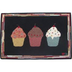 Susan Branch Cupcakes Novelty Rug