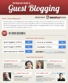 The Beginner's Guide to Guest #Blogging [Infographic]