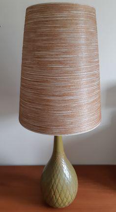 Lotte gunnar bostlund lamp green cross hatch glaze