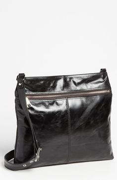 $228, Hobo Lorna Leather Shoulder Bag Black. Sold by Nordstrom. Click for more info: https://lookastic.com/women/shop_items/146498/redirect