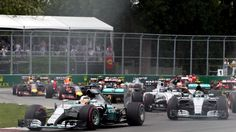 Lewis Hamilton (GBR) Mercedes AMG F1 W06 leads at start of the race at Formula One World Championship, Rd7, Canadian Grand Prix, Race, Montreal, Canada, Sunday 7 June 2015. © Sutton Motorsport Images