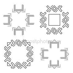 Letöltés - Készlet-ból divatos geometrikus alakzatokat csípő keretek gyűjtemény — Stock Illusztráció #115763800 Geometric Shapes, Illustration, Dimensional Shapes, Illustrations, Character Illustration