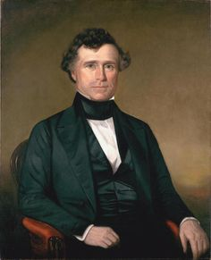 14:Franklin Pierce  1804-1869 Dates in office 1853-1857 Political Party: Democrat      President of the United States at a time of apparent tranquility. By pursuing the recommendations of southern advisers, Pierce -- a New Englander -- hoped to ease the divisions that led eventually to Civil War.