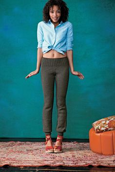 Knitted Pants : Knitting Pattern by Kristina McGowan || More Modern Top-Down Knitting via Ravelry