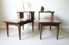 Mid Century Modern Step Tables Pair of 1960s by RetroTherapyRehab