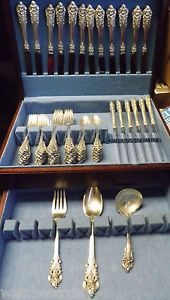 51 Pcs Of Wallace Grand Baroque Sterling Silver Flatware Set 12 Settings 3 Srvg What S On Your Table Pinterest