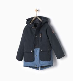 Image 1 of Contrast parka from Zara