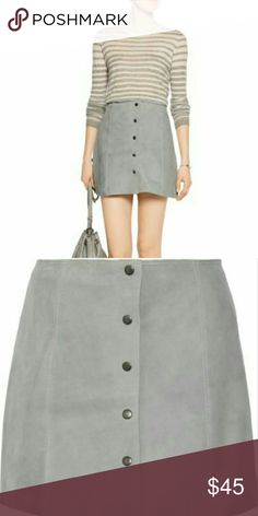 """HOST PICK - Skirt Faux Suede Walter Baker - L ***NO TRADES WHATSOEVER***  All my items are available for purchase unless it says SOLD or NOT FOR SALE.   Walter Baker grey faux suede skirt. The material is unbelievably soft and luxurious.  Snaps down front. Has grey stretch lining. Raw edges on hem. Pair with your favorite boots and a sweater for the fall. BRAND NEW, NEVER WORN WITH ORIGINAL TAGS LARGE WAIST: 30"""" LENGTH: 17""""  I work in L.A as a wardrobe stylist for film & television. All my…"""