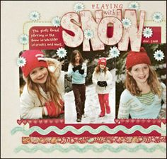 Winter theme papers - snow