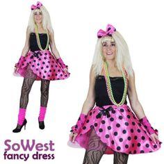 1980s Fancy Dress, Ladies Fancy Dress, Fancy Dress Outfits, Halloween Fancy Dress, Halloween Costumes, Uk Parties, Madonna, Tutu, Nostalgia