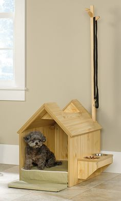 Latest Photos Excellent Totally Free Hanging dog food storage 70 ideas for 2019 . Latest Photos Excellent Totally Free Hanging dog food storage 70 ideas for 2019 … Latest Photos Dog House Inside, Small Dog House, Small Dogs, Dog Kennel Cover, Diy Dog Kennel, Dog House Plans, Cool Dog Houses, Niches, Dog Food Storage