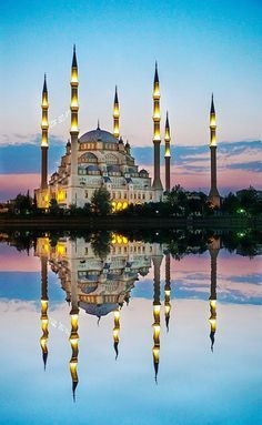 Haci Omer Sabanci Mosque / Adana,Turkey.. Grand Teton National Park, National Parks, Places Around The World, Around The Worlds, Wonderful Places, Beautiful Places, Saint Marin, Places To Travel, Places To Visit