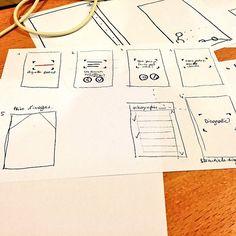 Première tentative de design d'interfaces.