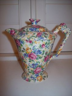 Vintage James Kent Chintz Rosalynde Teapot Roses I have a few pieces in this from my husbands grandmother