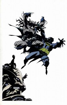 Batman versus predator by Mike Mignola