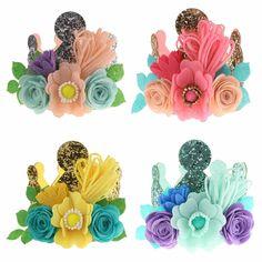 2//5//10 Pcs Fashion Girls Headwear Elastic Hair Rope with Flowers Random —AY