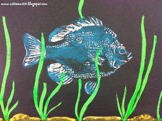 Art Room Grade Printmaking Unit: Gyotaku Prints: love the idea of using bubble wrap printing for water Third Grade Art, Grade 3, Second Grade, School Art Projects, Art School, School Stuff, School Ideas, Art History Lessons, Animal Art Projects