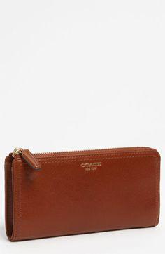 COACH 'Legacy' Leather Wallet in Brass/Cognac